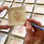 ceramics by PotteryAli - 18th century sailing ships on small plates